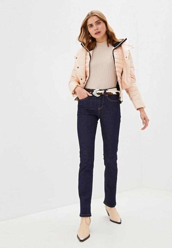 Фото 2 - Куртку утепленная Sisley розового цвета