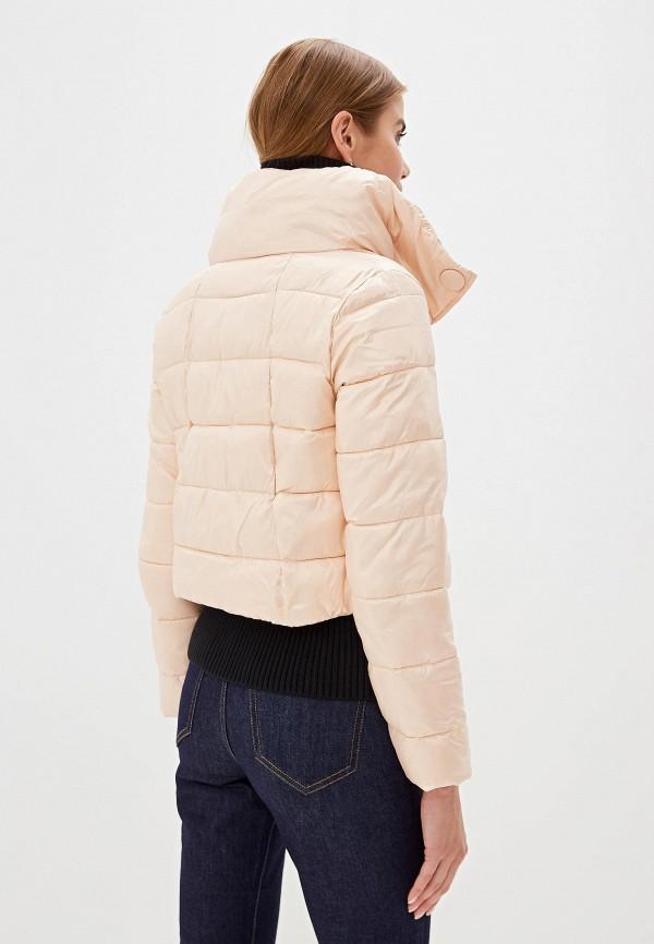 Фото 3 - Куртку утепленная Sisley розового цвета