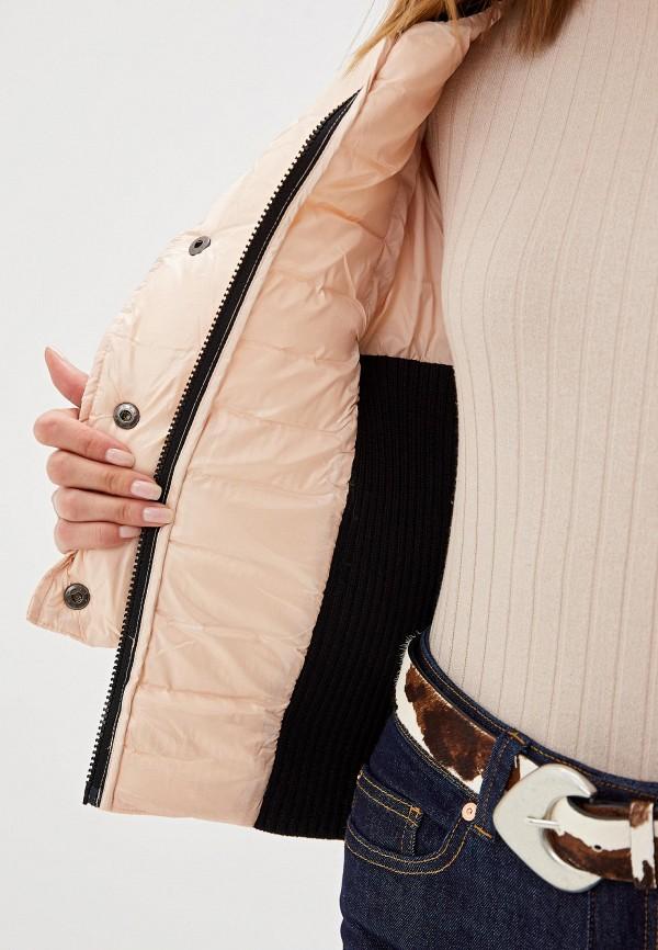 Фото 4 - Куртку утепленная Sisley розового цвета