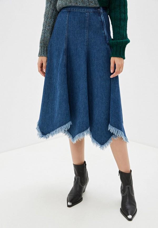 Юбка джинсовая Sisley Sisley SI007EWFVDH1 юбка sisley sisley si007ewartt1
