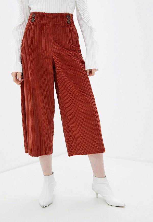 женские брюки sisley, оранжевые