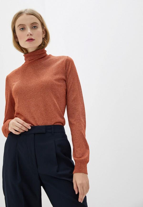 женская водолазка sisley, оранжевая