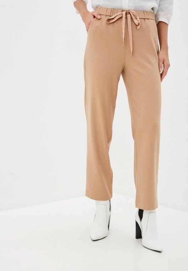 женские брюки sisley, бежевые