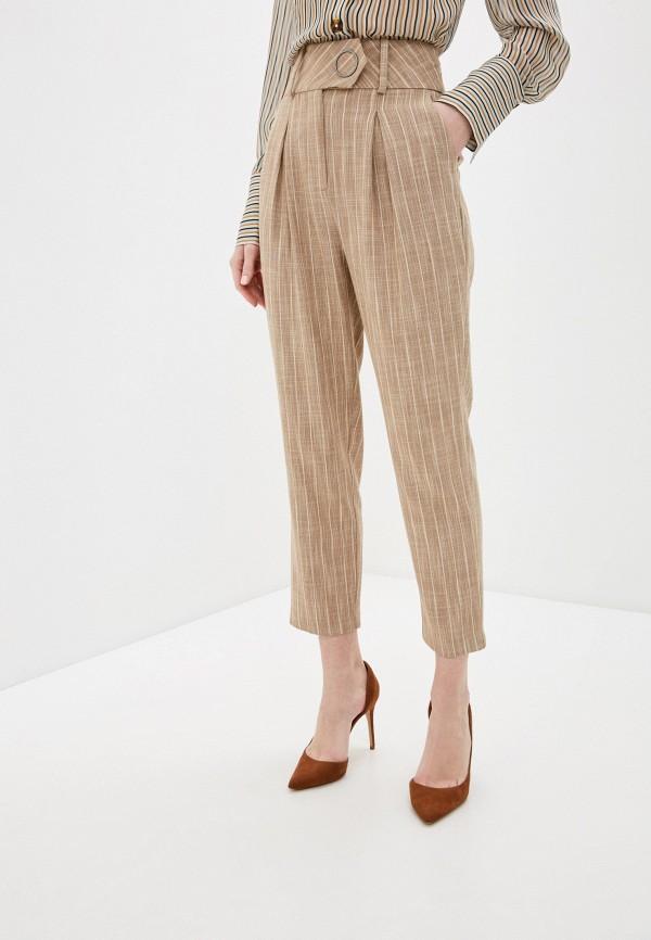 женские повседневные брюки sisley, коричневые