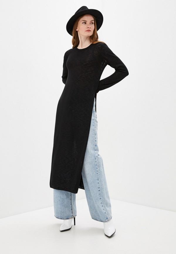 женское платье-свитеры sisley, черное