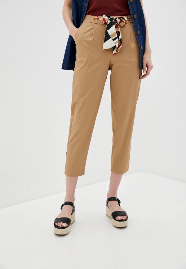 женские повседневные брюки sisley, бежевые