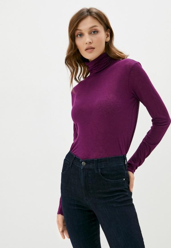 женская водолазка sisley, фиолетовая