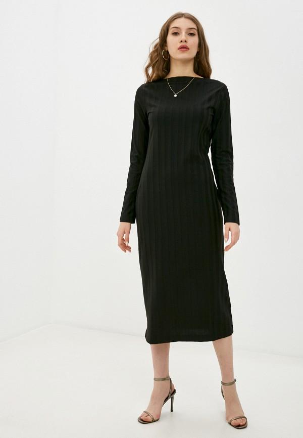 женское повседневные платье sisley, черное