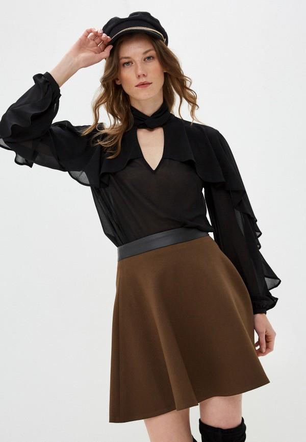женская блузка sisley, черная