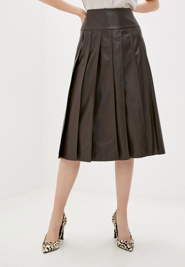 женская юбка sisley, коричневая