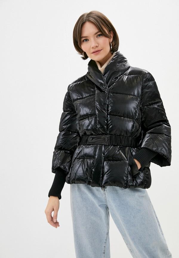 женская куртка sisley, черная