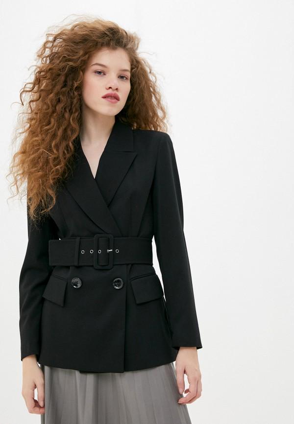 женский пиджак sisley, черный