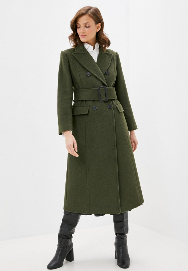 женское пальто sisley, хаки