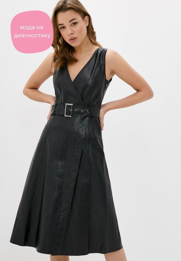 женское платье sisley, черное