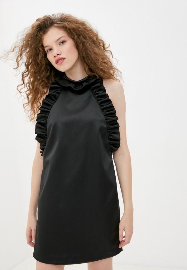 женское вечерние платье sisley, черное