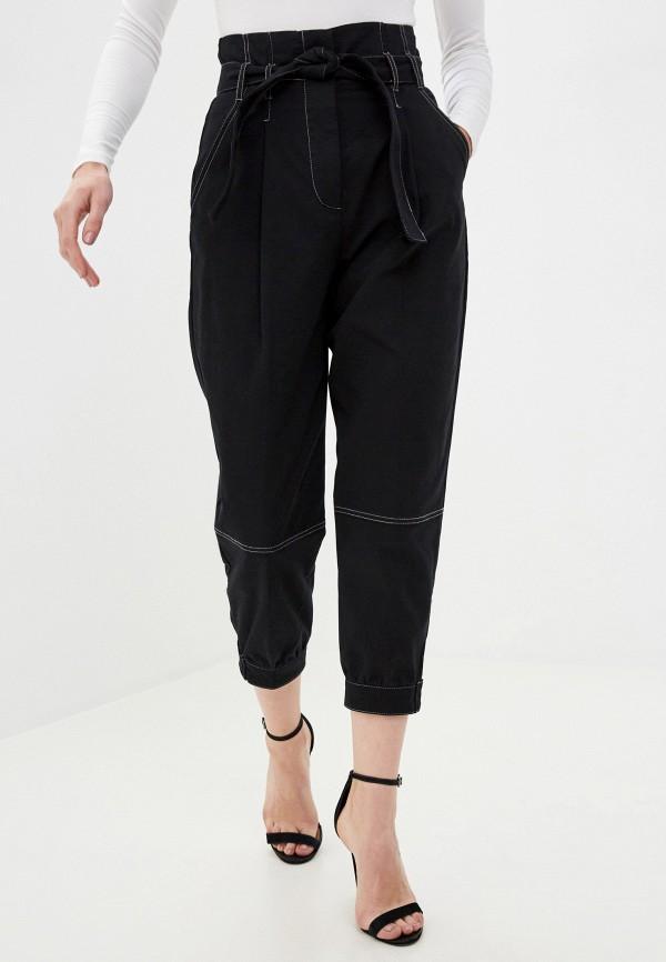 женские повседневные брюки sisley, черные