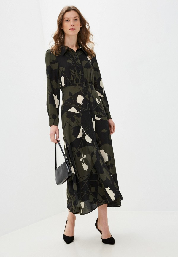 женское повседневные платье sisley, хаки
