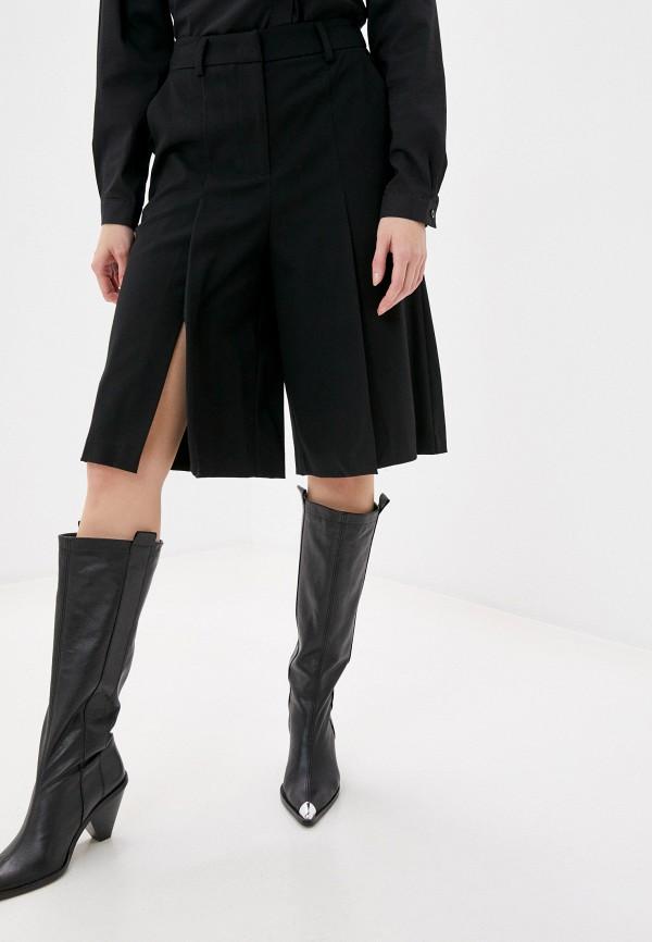женские повседневные шорты sisley, черные