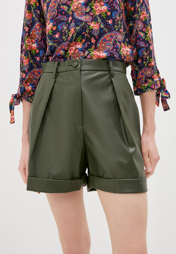 женские повседневные шорты sisley, хаки