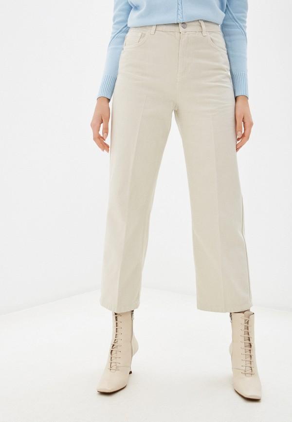 женские прямые джинсы sisley, бежевые
