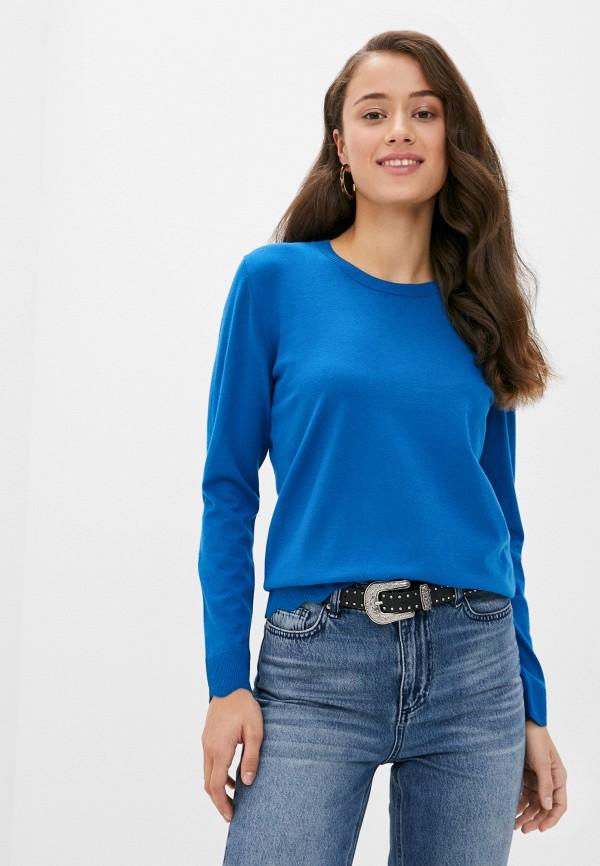 женский джемпер sisley, синий