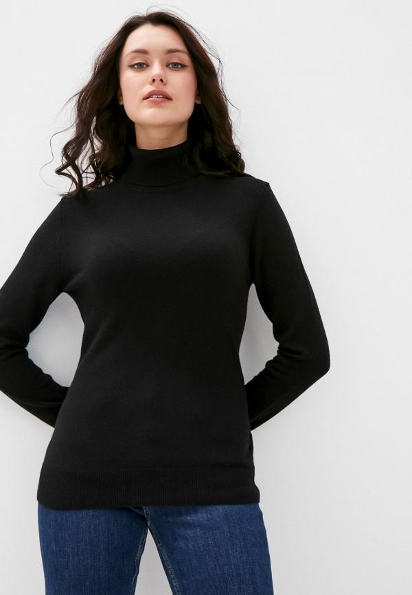 женская водолазка sisley, черная