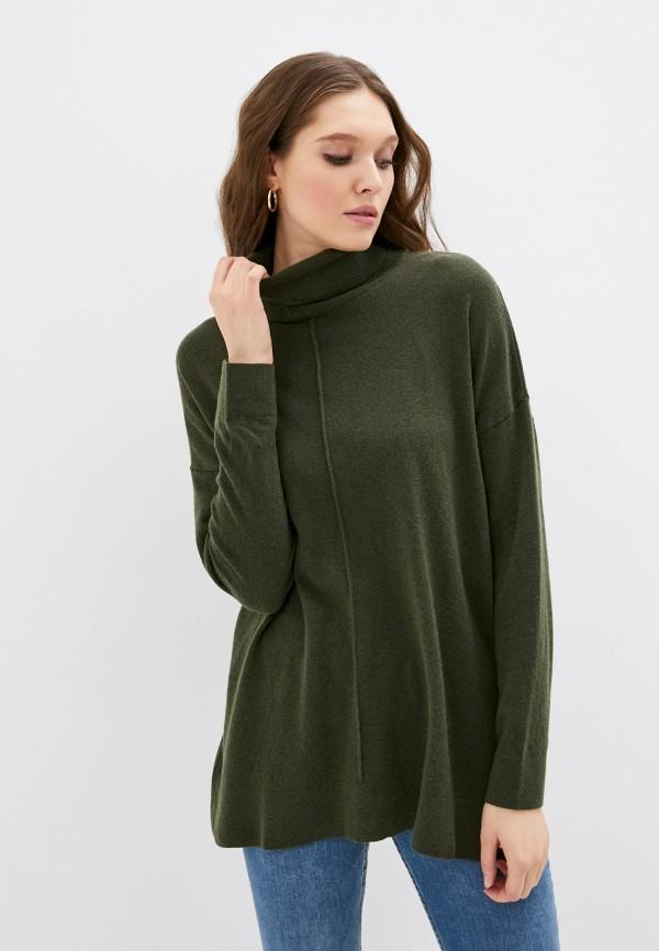 женская водолазка sisley, зеленая