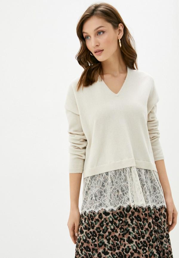 женский пуловер sisley, бежевый