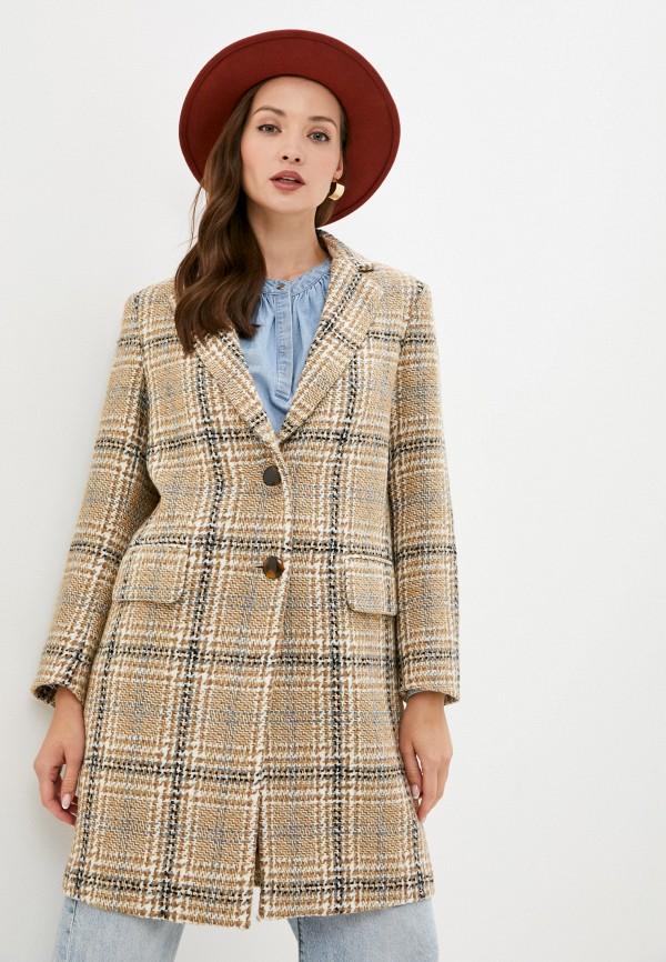 женское пальто sisley, бежевое