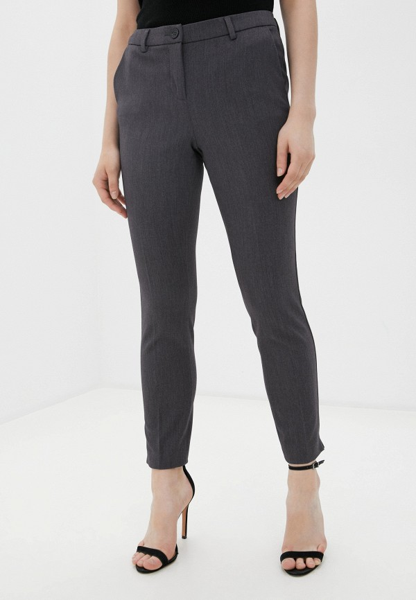женские классические брюки sisley, серые