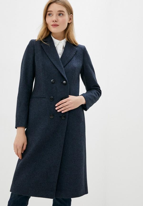 женское пальто sisley, синее