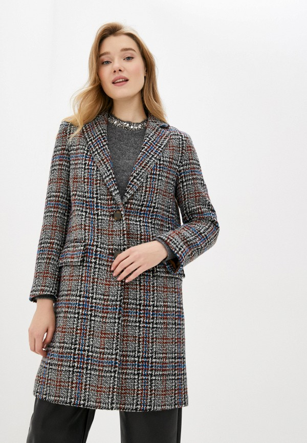 женское пальто sisley, разноцветное