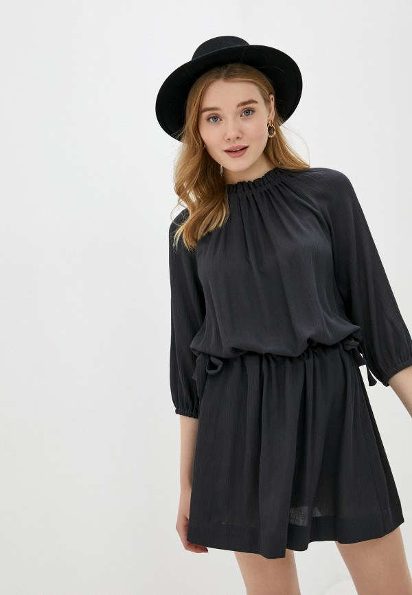 женское повседневные платье sisley, серое