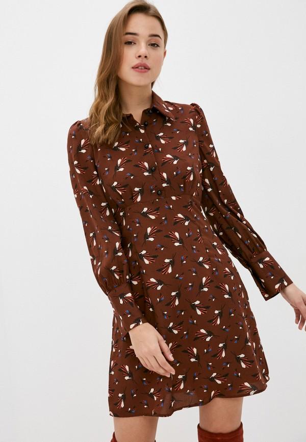 женское повседневные платье sisley, коричневое