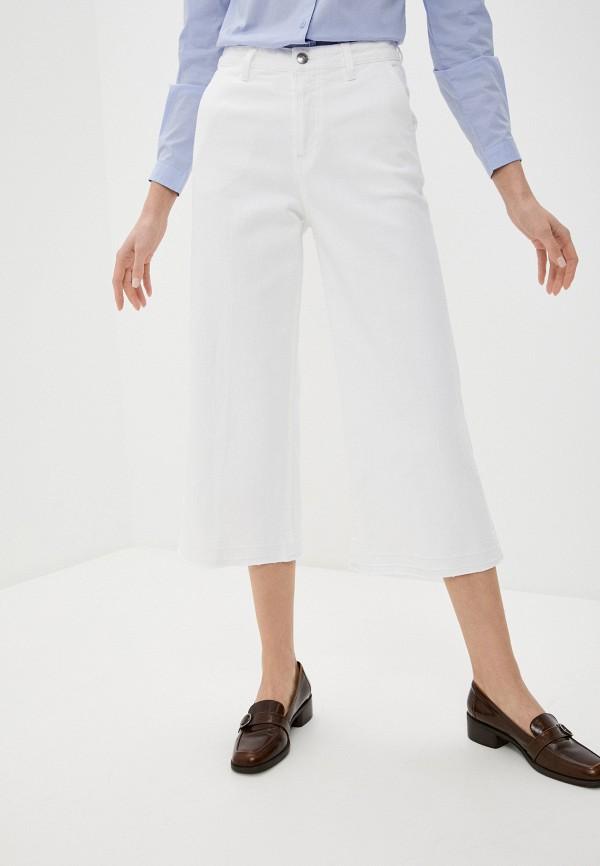 женские джинсы клеш sisley, белые