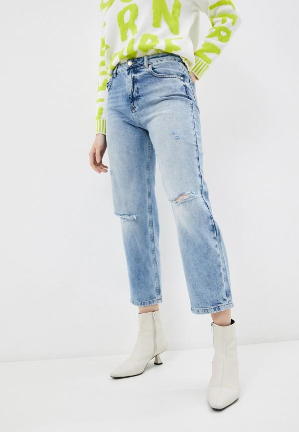 женские прямые джинсы sisley, голубые