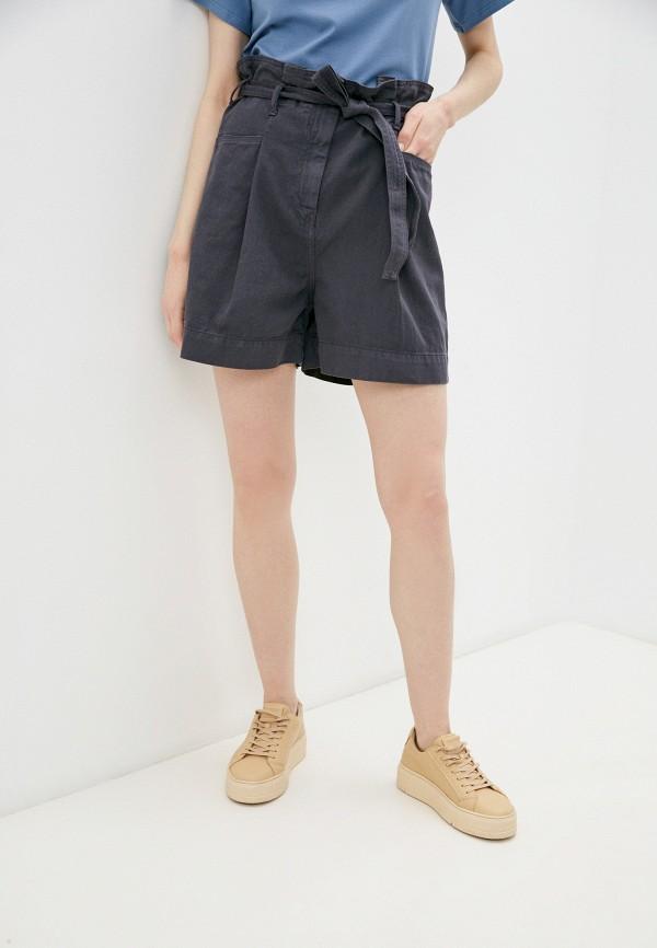 женские джинсовые шорты sisley, серые