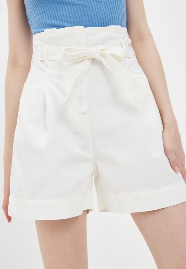 женские джинсовые шорты sisley, белые