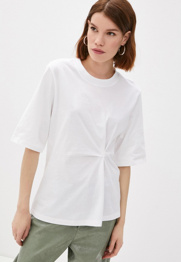 женская футболка sisley, белая