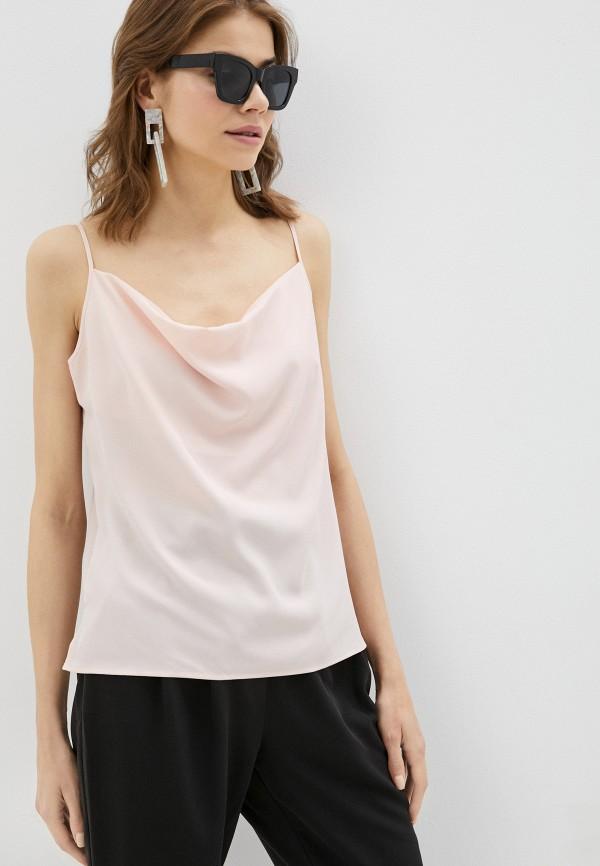 женский топ sisley, розовый