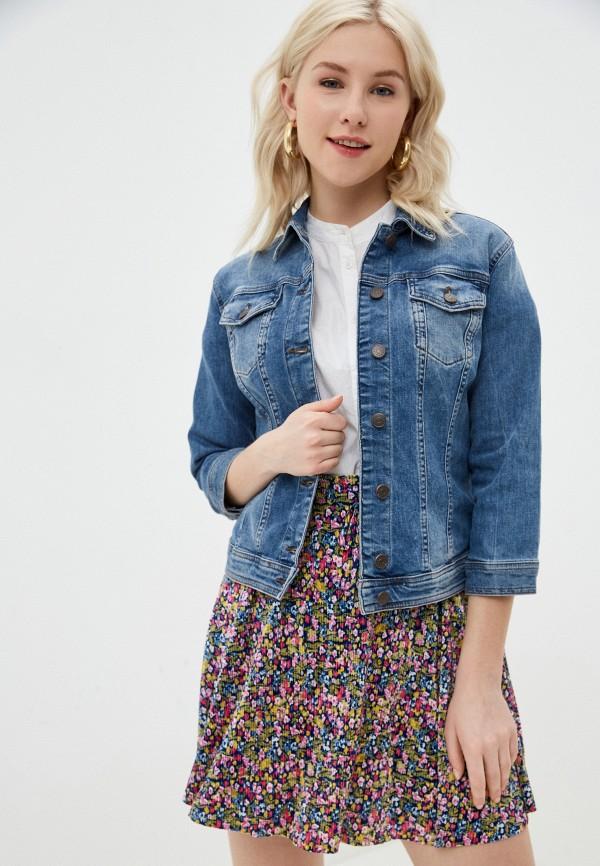 женская джинсовые куртка sisley, голубая
