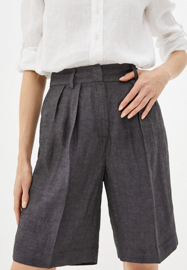женские повседневные шорты sisley, коричневые