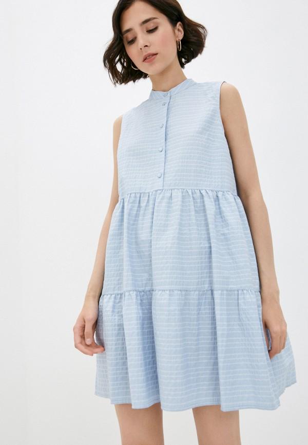 женское повседневные платье sisley, голубое