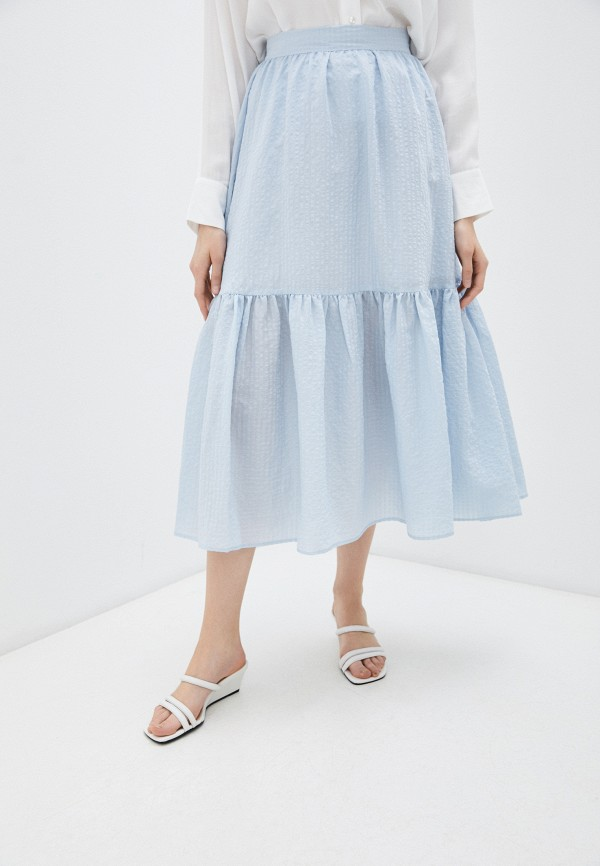 женская юбка sisley, голубая