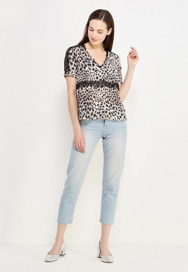 Фото 2 - женскую блузку Sisley серого цвета