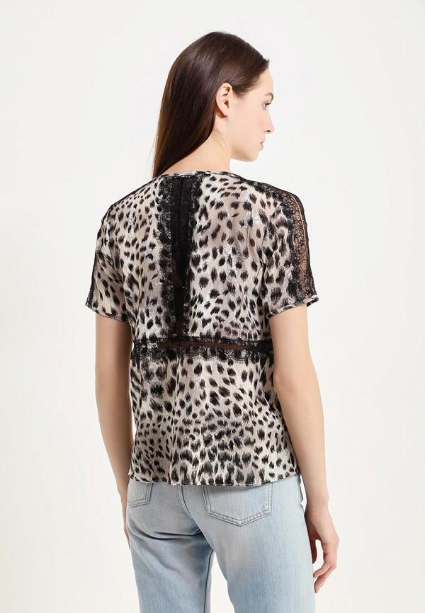 Фото 3 - женскую блузку Sisley серого цвета