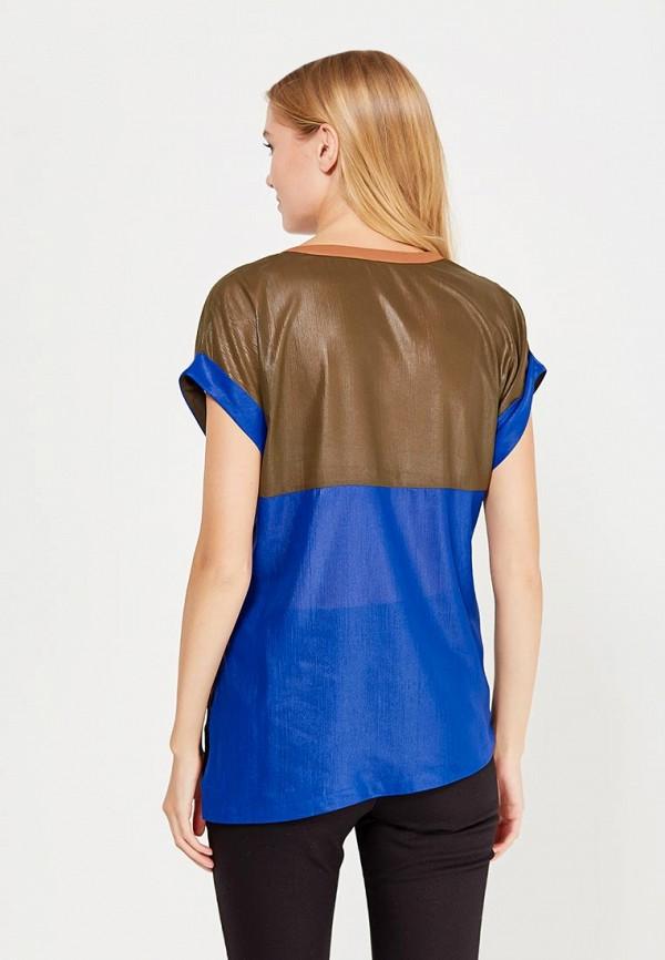 Фото 3 - женскую блузку Sisley синего цвета