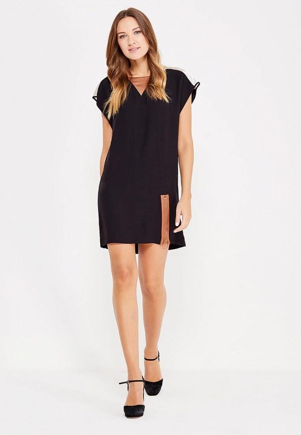 Фото 2 - женское платье Sisley черного цвета