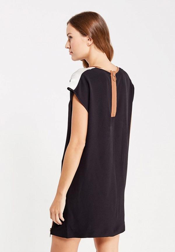 Фото 3 - женское платье Sisley черного цвета