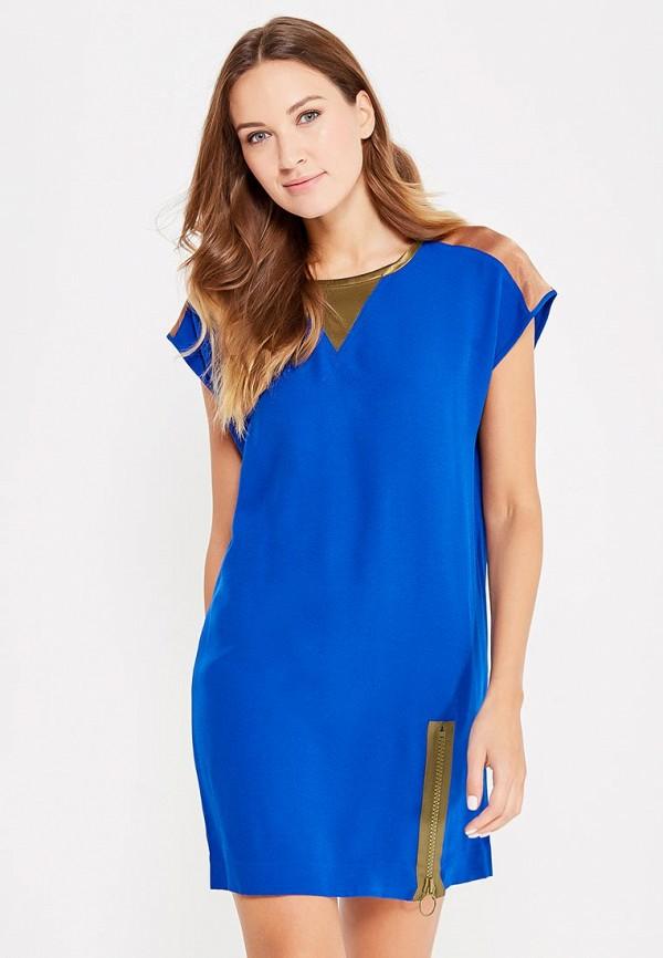 женское повседневные платье sisley, синее